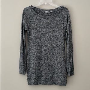 ATHLETA Oversized SOFT TOP in Grey Speckled CUTE